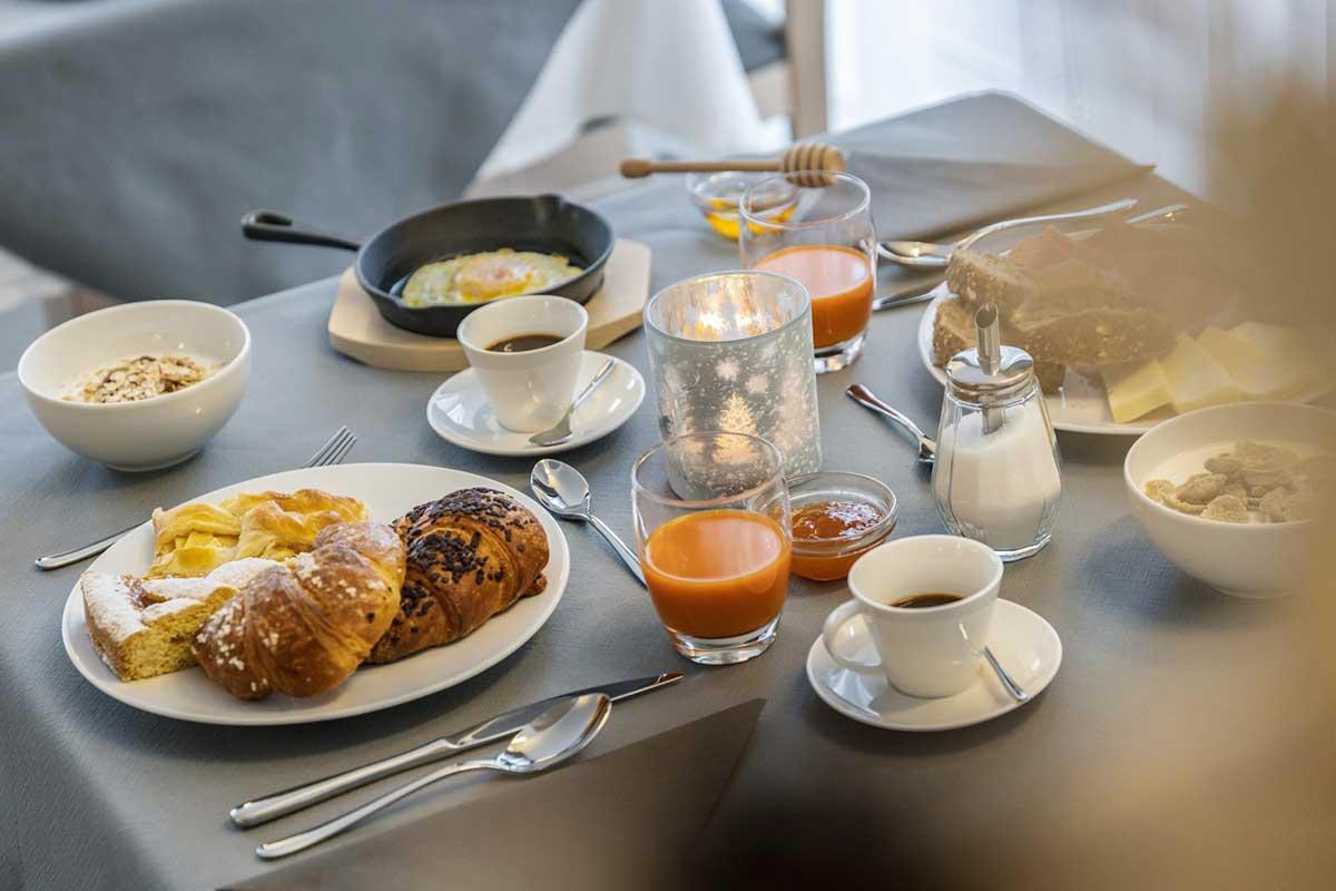 la colazione dell'agriturismo sicher