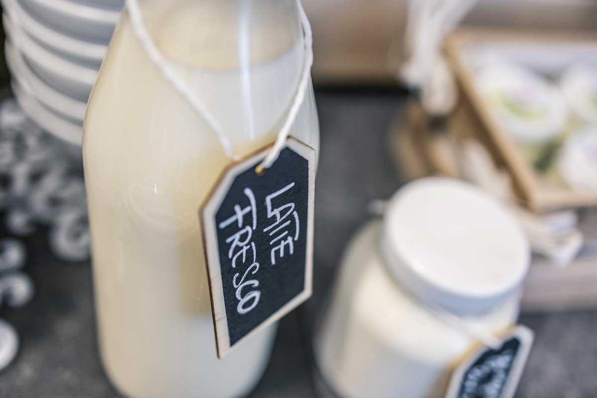 latte fresco da agriturismo sicher